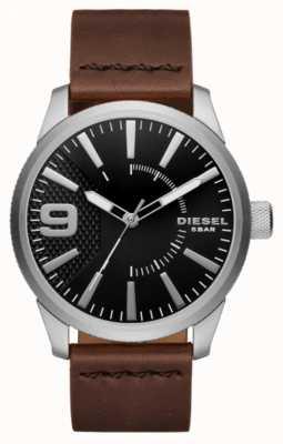 Diesel Mens rasp zwart en roestvrij staal DZ1802