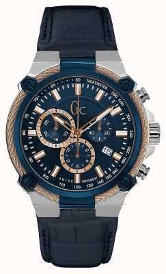 Gc Mens kabelforce chronograaf blauw Y24001G7