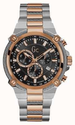 Gc Mens kabelforce chronograaf twee toon staal Y24002G2