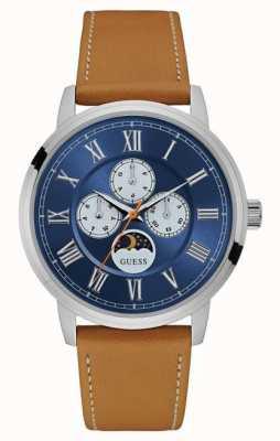 Guess Menselijke chronograaf tan leer W0870G4