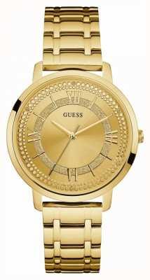 Guess Vrouwen montauk vergulde armband gouden wijzerplaat W0933L2