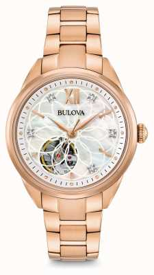 Bulova Women's automatische diamanten horloge 97P121