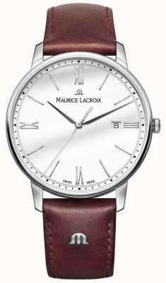 Maurice Lacroix Eliros mens bruin lederen riem horloge EL1118-SS001-113-1