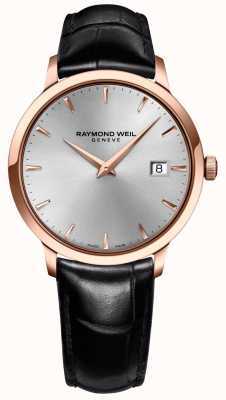 Raymond Weil Mens toccata zilver leer 5488-PC5-65001