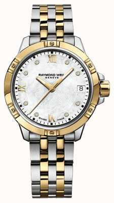 Raymond Weil Dames tango horloge | roestvrij stalen band | witte wijzerplaat | 5960-STP-00995