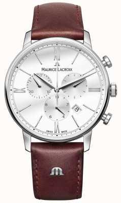Maurice Lacroix Eliros menschronograaf bruin leer EL1098-SS001-112-1