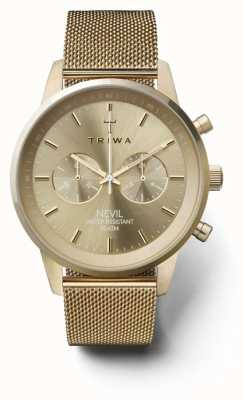 Triwa Womans nevil chronograaf gouden toonnet NEST104:2-ME021313