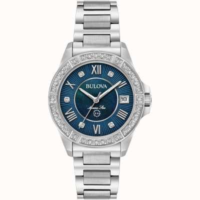 Bulova Dames marine ster diamanten 96R215