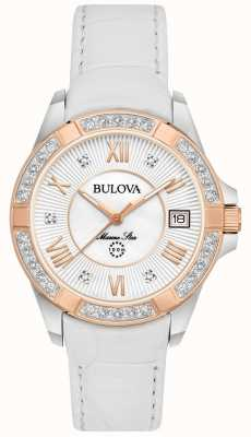 Bulova Womans marine ster diamant wit 98R233