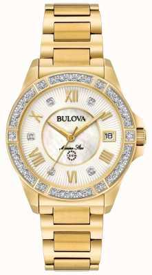 Bulova Womans marine ster goudkleurig 98R235