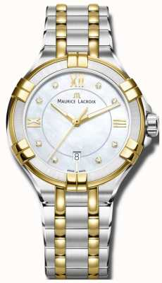 Maurice Lacroix Dames aikon quartz two tone armband AI1004-PVY13-171-1