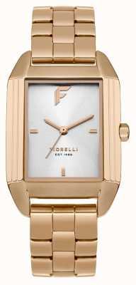 Fiorelli Womans rose gouden armband satijn wijzerplaat FO034RGM