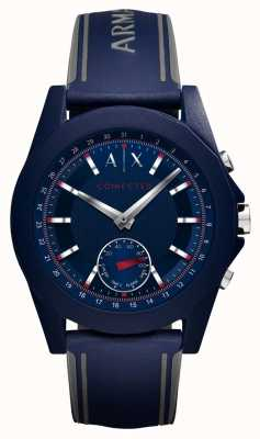 Armani Exchange Verbonden slimme horloge blauwe siliconenband AXT1002