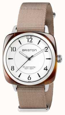 Briston Unisex clubmeester chic beige acetaatstaal met nato band 17536.SA.T.2.NT