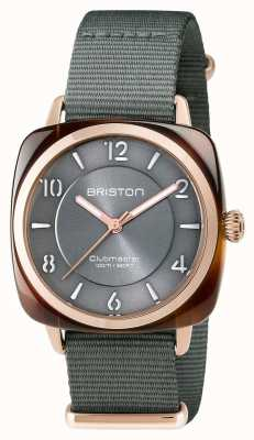 Briston Unisex clubmaster chic grey acetaat pvd rose gold 17536.PRA.T.11.NG