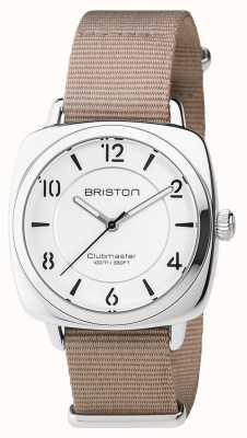 Briston Unisex clubmeester chic beige staal met nato band 17536.S.L.2.NT