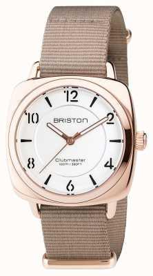 Briston Clubmaster chic stalen - hms gouden witte wijzerplaat 17536.SPRG.L.2.NT