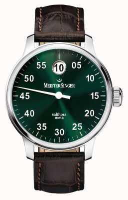 MeisterSinger Heren Classic plus salthora meta auto zonnestraal groen SAM909