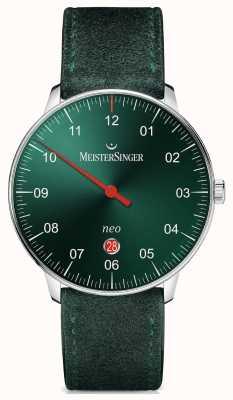 MeisterSinger Mensvorm en stijl neo plus automatisch zonnestraal groen NE409