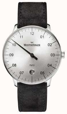 MeisterSinger Mens vorm en stijl neo automatische sunburst zilver NE901N