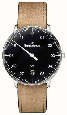 MeisterSinger Mens vorm en stijl neo automatische zwart NE902N