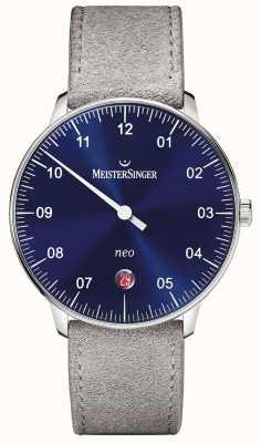 MeisterSinger Mens vorm en stijl neo automatische zonnestraal blauw NE908N