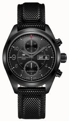 Hamilton Khaki field auto chrono * horloge van tom clancy's jack ryan * H71626735