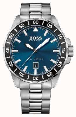 Hugo Boss Mens roestvrij staal blauwe wijzerplaat 1513230
