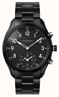 Kronaby 43 mm apex bluetooth black pvd metalen band smartwatch A1000-0731