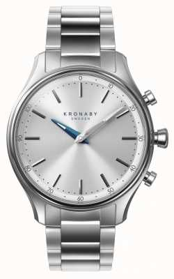 Kronaby 38mm sekel bluetooth roestvrij stalen armband smartwatch A1000-0556