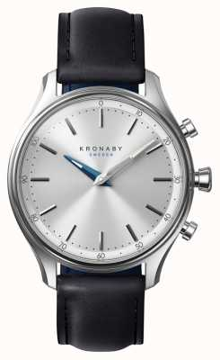 Kronaby 38 mm sekel bluetooth zwart lederen band a1000-0657 S0657/1