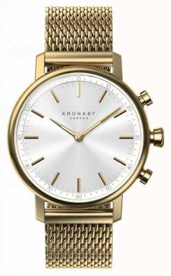 Kronaby 38mm carat bluetooth gold mesh band smartwatch A1000-0716