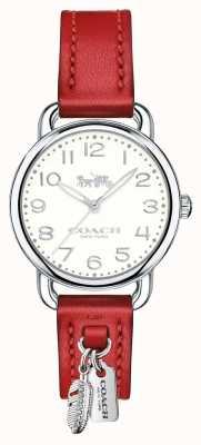 Coach Womans delancey horloge rode leren riem 14502758