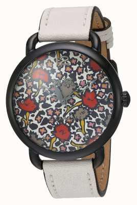 Coach Womans delancy horloge wit leren riem patroon dial 14502729