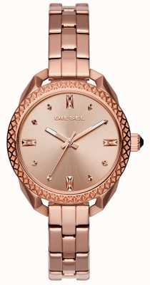 Diesel Dames shawty roos goud armband horloge DZ5549