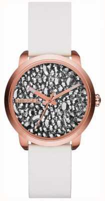 Diesel Dames flare serie wit / steen horloge DZ5551