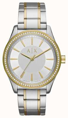 Armani Exchange Dames nicolette tweetoon horloge AX5446