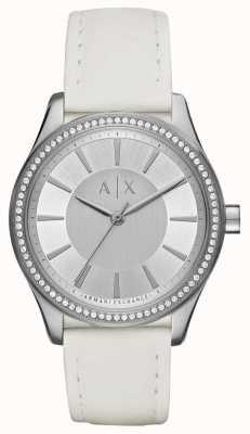 Armani Exchange Dames nicolette witte riem horloge AX5445