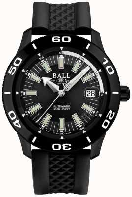 Ball Watch Company Brandweerman necc pvd hoesje zwart rubberen riem DM3090A-P4J-BK