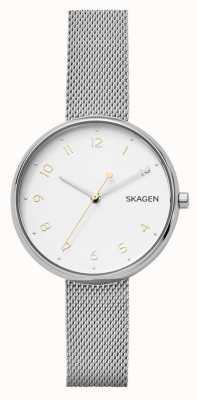 Skagen Womans handtekening zilveren roestvrijstalen mesh armband SKW2623