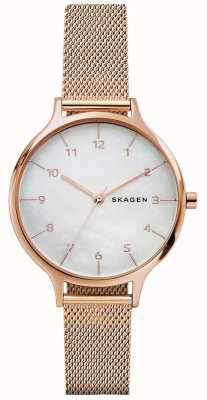 Skagen Womans anita rose goud roestvrij staal mesh armband SKW2633