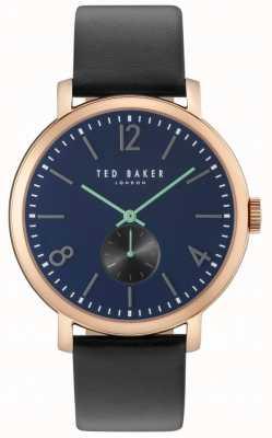 Ted Baker Mens oliver 42mm zwarte band rose gouden hoesje TE10031515