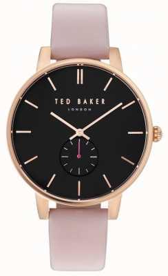 Ted Baker Womans olivia 40mm roze gouden hoesje roze leren riem TE10031538