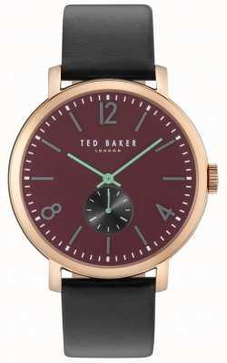 Ted Baker Mens oliver 42mm zwarte band rose gouden hoesje TE10031516