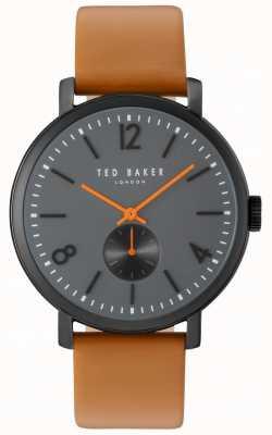 Ted Baker Mens oliver 42mm bruin band zwart hoesje TE10031514