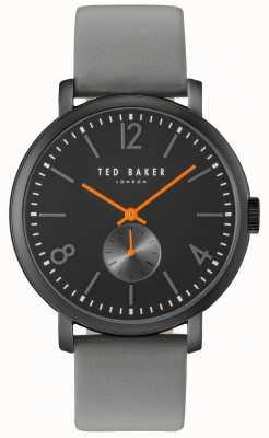 Ted Baker Mens oliver 42mm grijze band zwart hoesje TE10031517