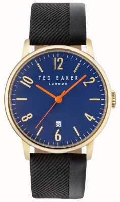 Ted Baker Mens daniel twee toon leren riem blauwe wijzerplaat TE10031571