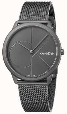 Calvin Klein Mannen minimale grijze roestvrijstalen mesh armband K3M517P4