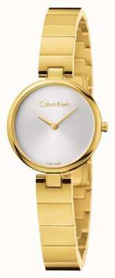 Calvin Klein Womans authentieke pvd vergulde stalen armband K8G23546
