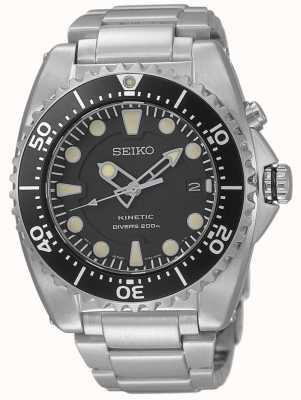 Seiko Mens kinetische duikers roestvrijstalen armband SKA761P1